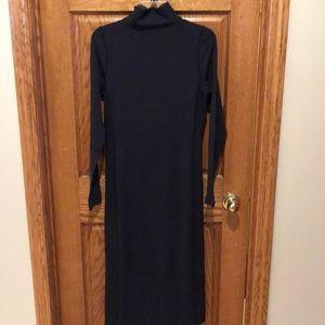 Lululemon long dress.  Black with ribbed sides.